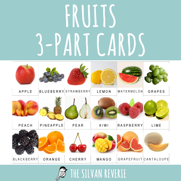 FRUITS 3-PART CARDS