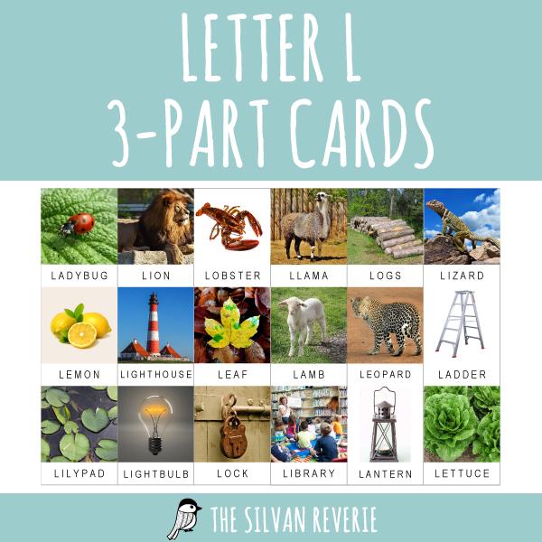 LETTER L 3-PART CARDS 2