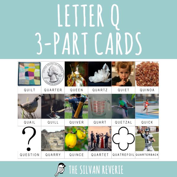 LETTER Q 3-PART CARDS
