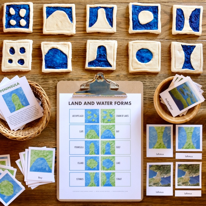 LAND AND WATER FORMS NATURE STUDY