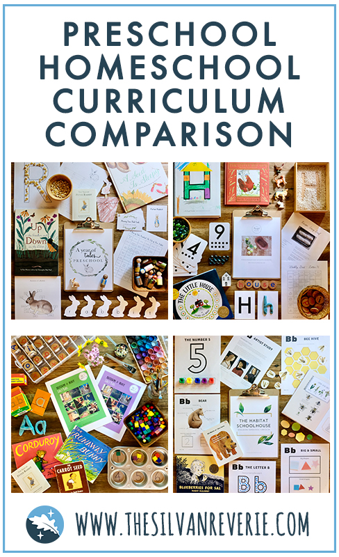 Preschool Homeschool Curriculum Comparison - The Silvan Reverie