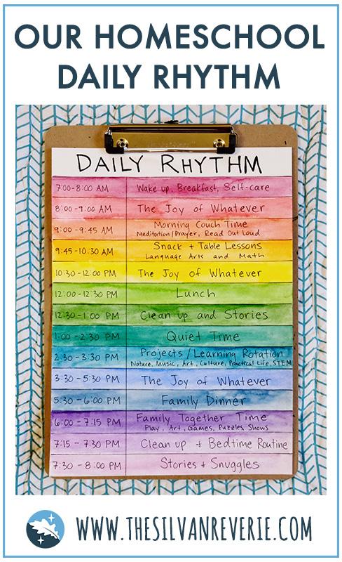 Our Homeschool Daily Rhythm